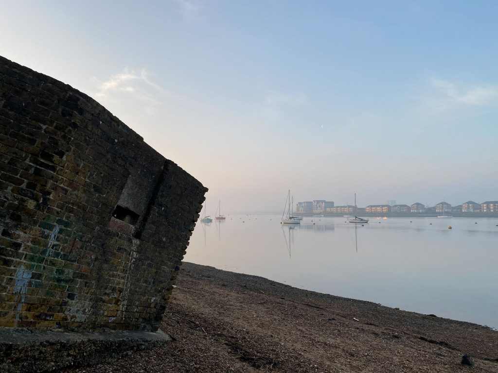 Pillbox at Upnor Beach, Saxon Shore Way