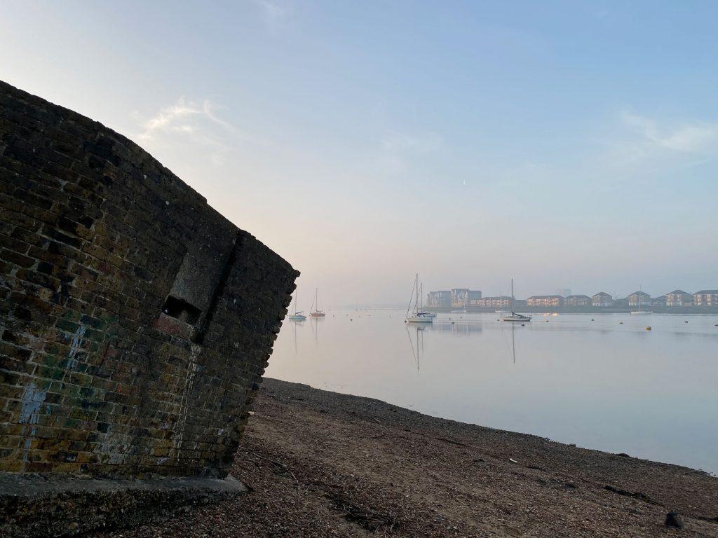 Pillbox at Upnor Beach, Saxon Shore Way