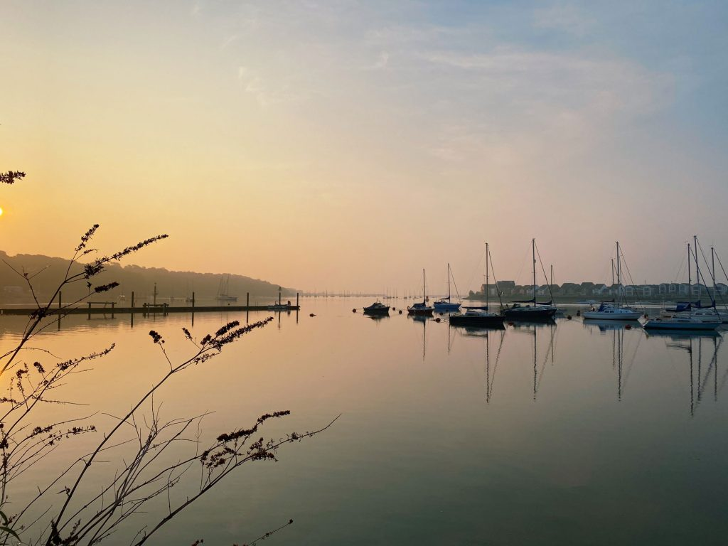 Upnor beach at sunrise